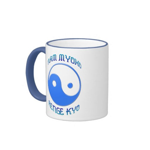 'Nam Myoho Renge Kyo' Yin & Yang Buddhism Ringer Coffee Mug
