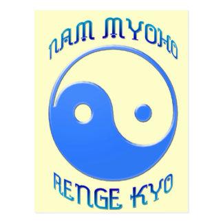 'Nam Myoho Renge Kyo' Yin & Yang Buddhism Postcard