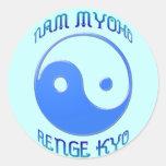 'Nam Myoho Renge Kyo' Yin & Yang Buddhism Round Sticker