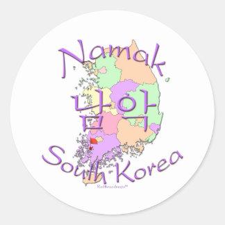 Namak South Korea Round Stickers