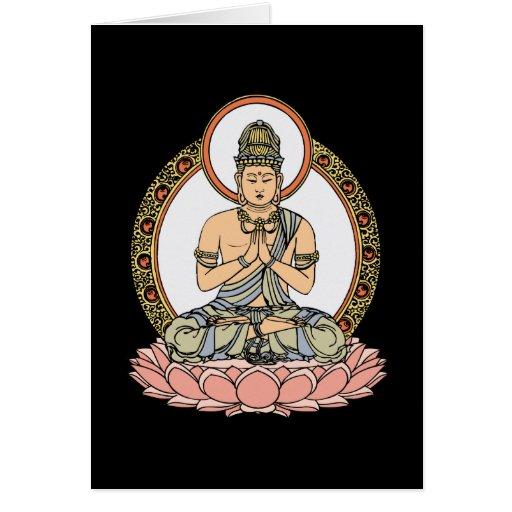 Namaskara Mudra Buda Tarjeta De Felicitación