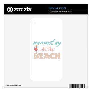 Namast'ay at the Beach iPhone 4 Skins