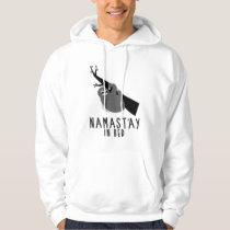 namast'ay in bed sloth hoodie