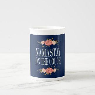 Namastay on the Couch Bone China Mug