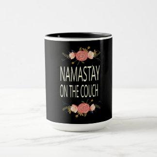 Namastay on the Couch Combo Mug