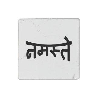 Namaste (नमस्ते) - escritura de Devanagari Imán De Piedra