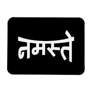 Namaste (नमस्ते) - escritura de Devanagari Imán Rectangular