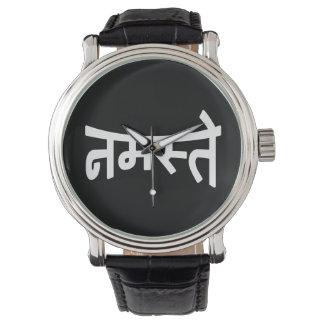 Namaste (नमस्ते) - escritura de Devanagari Relojes De Mano