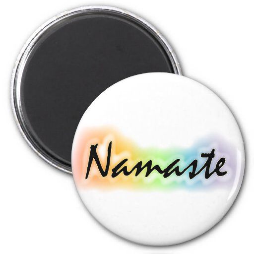 Namaste 2 Inch Round Magnet