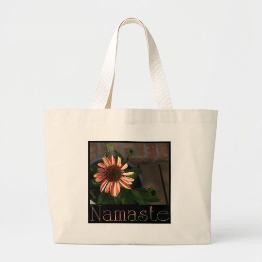 Namaste 3 large tote bag