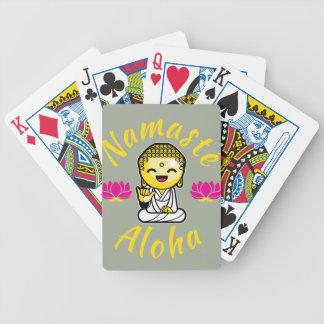 Namaste Aloha hand sign Buddha Humour Bicycle Playing Cards