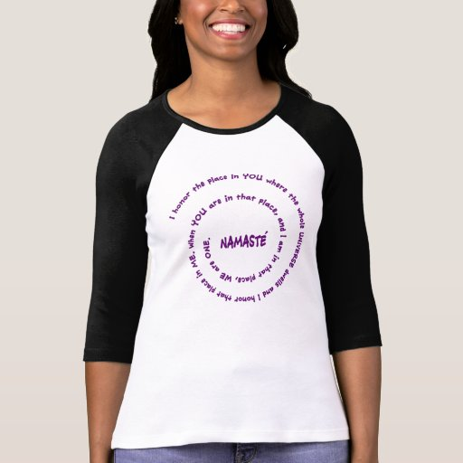 Namaste and it's Meaning in Sacred Purple T Shirt
