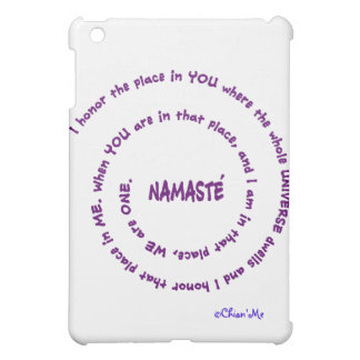 Namaste and its Meaning iPad Mini Covers