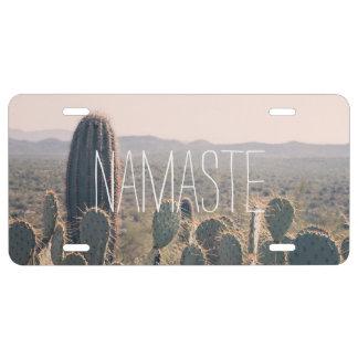 Namaste - Arizona Cacti   License Plate