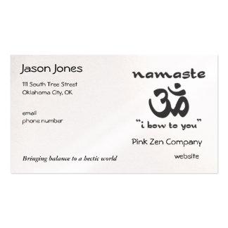 Namaste - arqueo a usted (en negro) tarjetas de visita