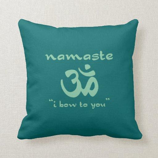 Namaste - arqueo a usted (en verde) almohadas
