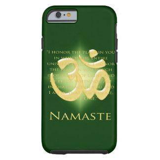 Namaste - arqueo a usted (en verde) funda de iPhone 6 tough
