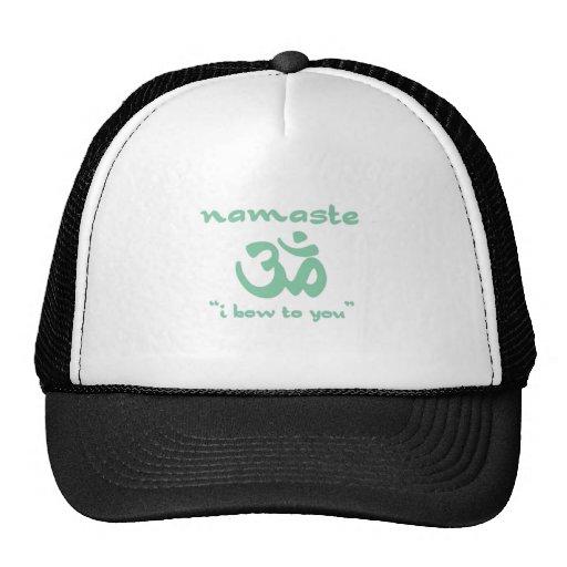 Namaste - arqueo a usted (en verde) gorro de camionero
