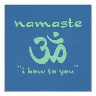 Namaste - arqueo a usted en verde anuncios personalizados