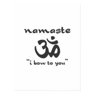 Namaste - arqueo a usted postales
