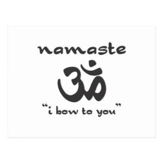 Namaste - arqueo a usted postal