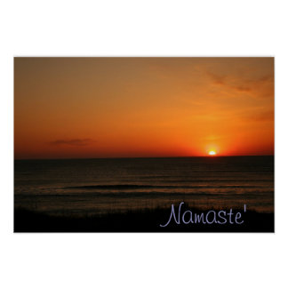 Namaste' Beach Sunrise poster