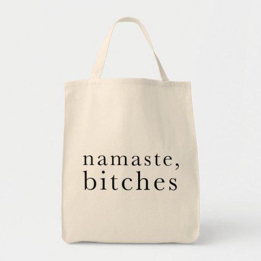 namaste_bitches_designsm grocery tote bag