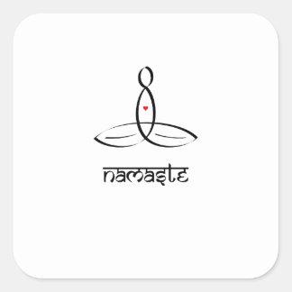 Namaste - Black Sanskrit style Square Sticker