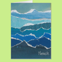 """Namaste"" Blue Water Card by artist Heather Pierce"