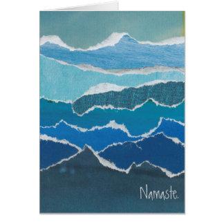 """Namaste"" Blue Water Card by artist Heather Pierce"