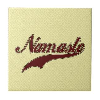 Namaste Borgoña roja elegante Teja Cerámica