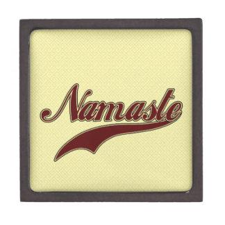 Namaste Borgoña roja elegante Caja De Joyas De Calidad