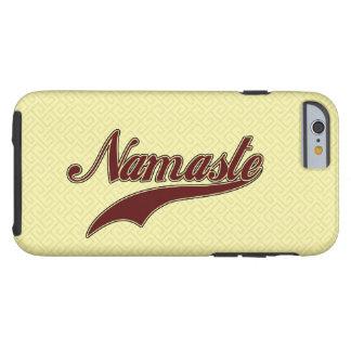 Namaste Borgoña roja elegante Funda De iPhone 6 Tough