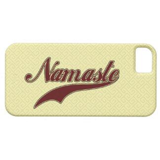 Namaste Borgoña roja elegante iPhone 5 Carcasa
