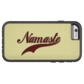 Namaste Borgoña roja elegante Funda De iPhone 6 Tough Xtreme