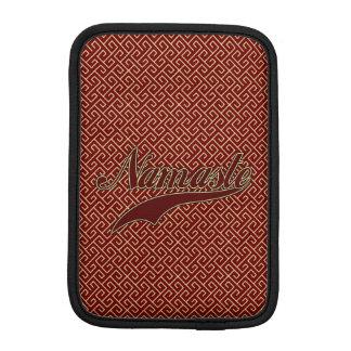 Namaste Borgoña roja elegante Fundas iPad Mini