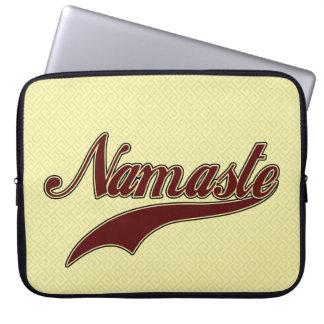Namaste Borgoña roja elegante Manga Portátil