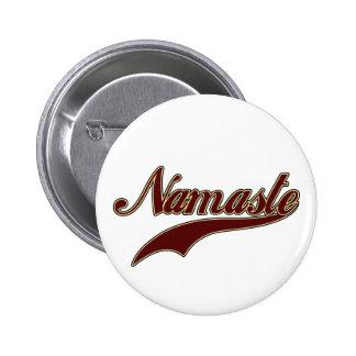 Namaste Borgoña roja elegante Pins