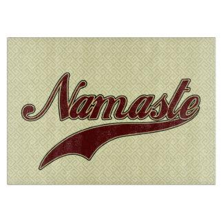 Namaste Borgoña roja elegante Tablas Para Cortar