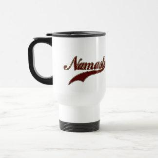 Namaste Borgoña roja elegante Taza De Café