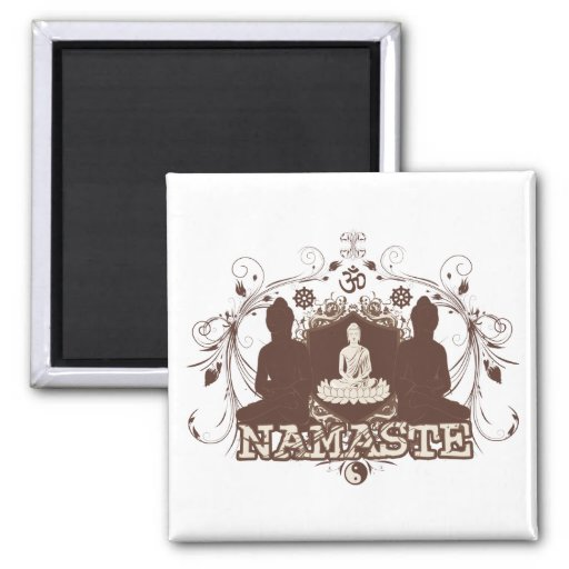Namaste Buda Imán De Frigorifico