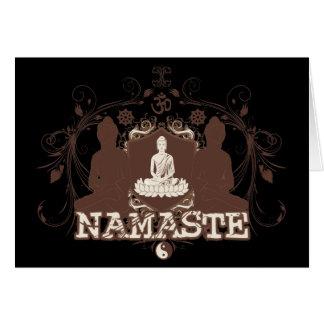 Namaste Buda Tarjetón