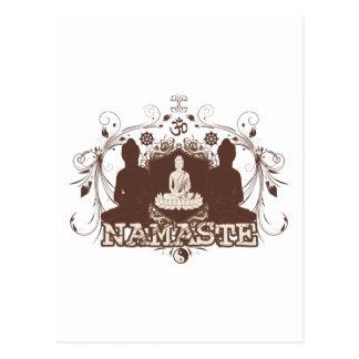 Namaste Buda Tarjeta Postal