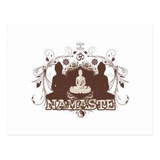 Namaste Buda Postales