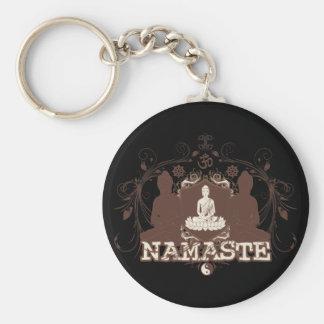 Namaste Buddha Keychain