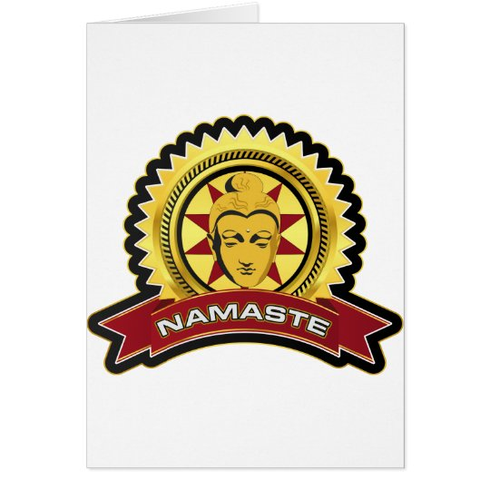 Namaste Buddha Logo Card