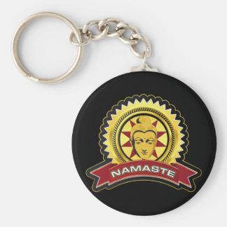 Namaste Buddha Logo Keychains