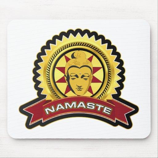 Namaste Buddha Logo Mouse Pad