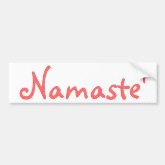 Namaste Car Bumper Sticker