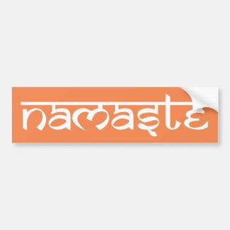 Namaste Bumper Sticker Car Bumper Sticker